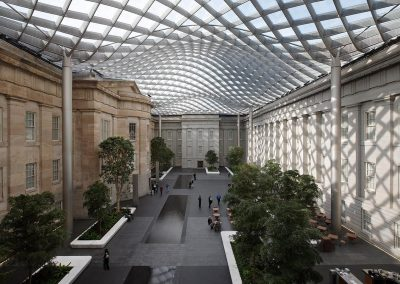 The Robert and Arlene Kogod Courtyard, Smithsonian American Art Museum.